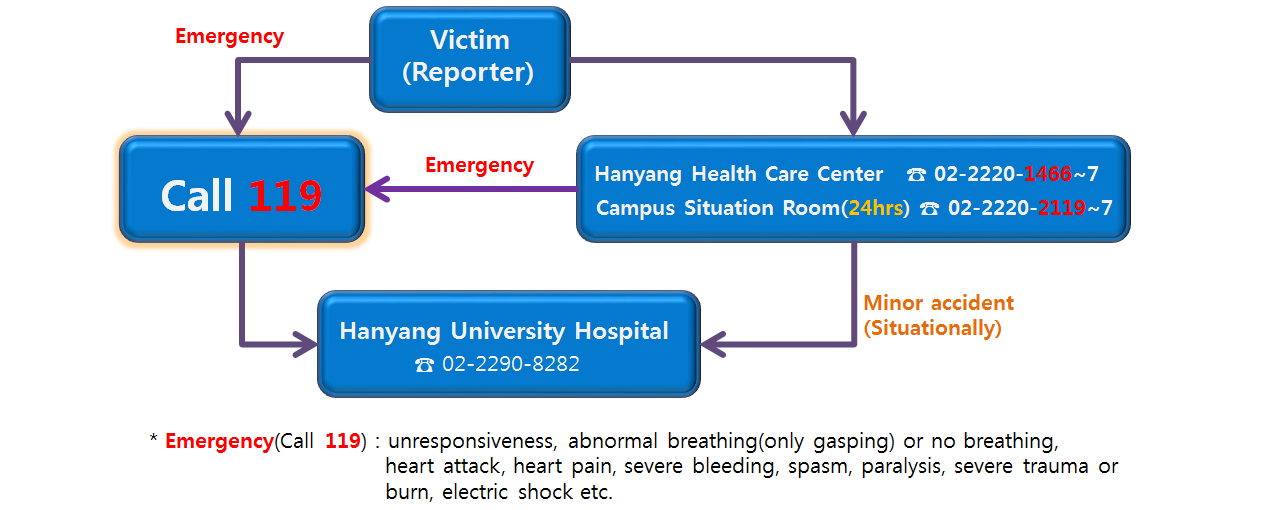 Network of Emergency contacts( On SEOUL campus)